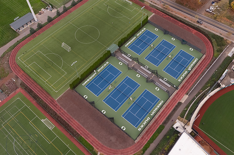 Aerial photo of the outdoor track.