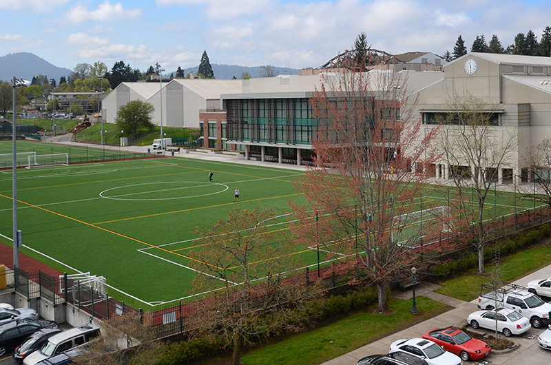 Outside Turf Field at the Student Recreation Center at the University of Oregon